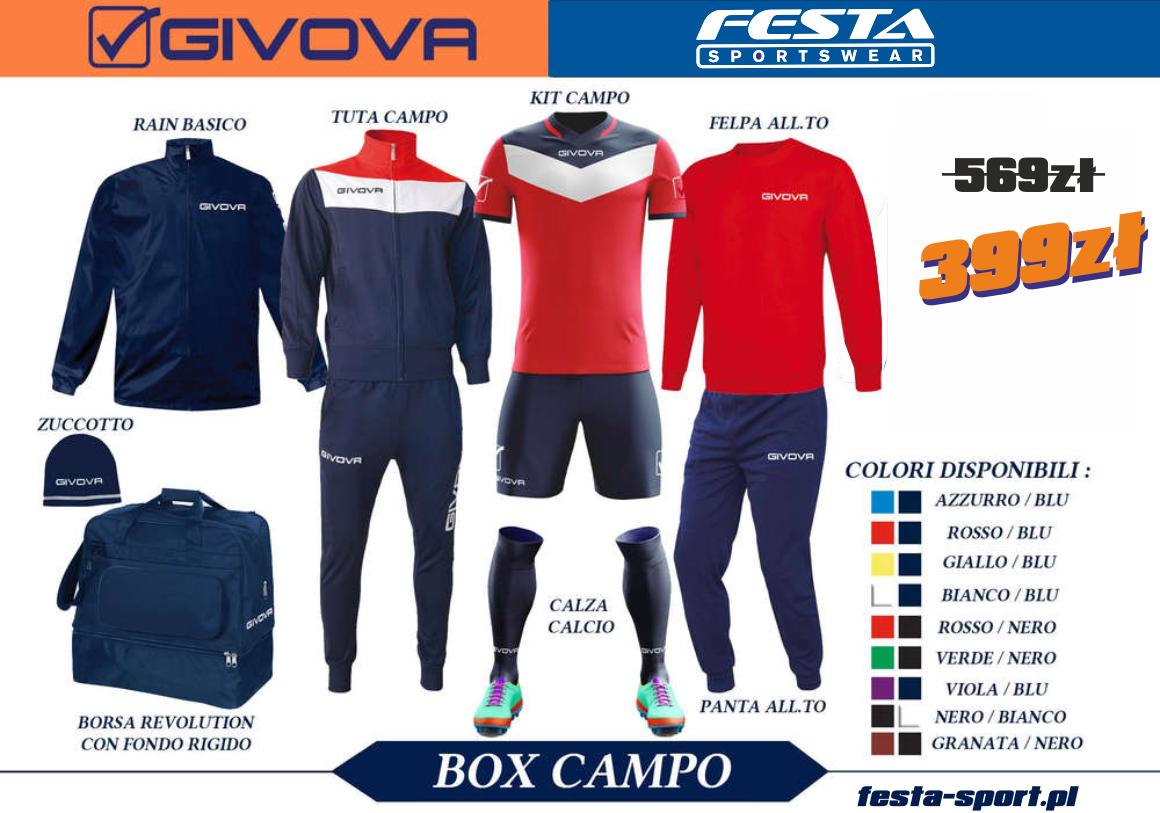 c6376eb441181 BOX GIVOVA CAMPO Oficjalny dystrybutor Givova Kappa Autoryzowany ...